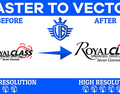I will convert raster to high resolution vector file