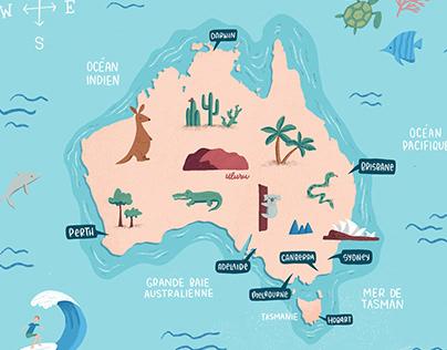 Digital Illustration - Map of Australia