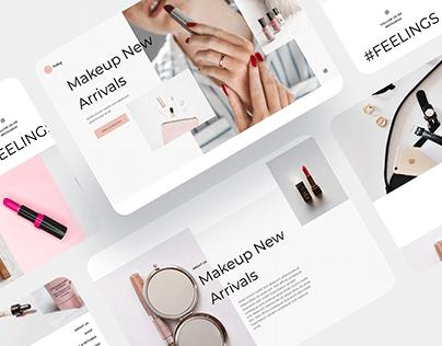 Makeup Minimal Website Concept