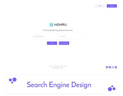 Nomru Search Engine Web Design