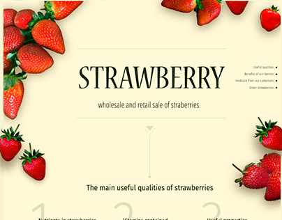 "Landing page ""STRAWBERRY"""