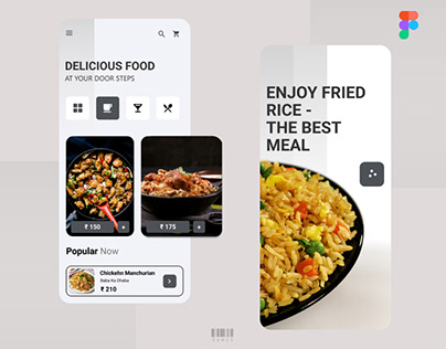 Food App UI-Two Pages