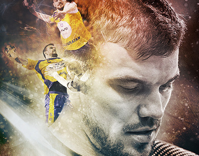 Sport poster - handball player of Vive Tauron Kielce