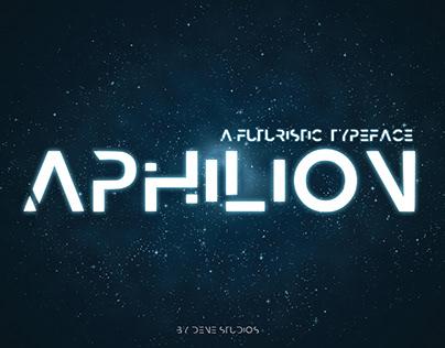 APHILION - A Futuristic Typeface