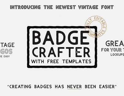 Badge Crafter Font and Logo Templates