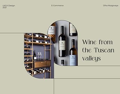 E-commerce | Wine and glass shop