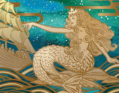 Starbucks Moon Festival Illustration