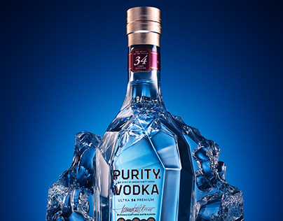Beverage Photography: Vodka oN ice
