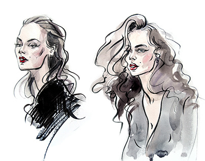 Fashion illustrations. Emotions and femininity