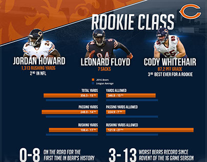 2016 Chicago Bears Infographic
