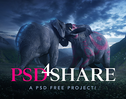 FREE PSD - Elephant King