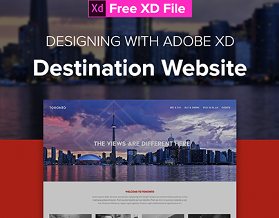 Destination Website Toronto - An Adobe XD Collaboration