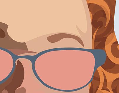 Redhead Vector Image