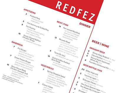 Redfez Menu Design