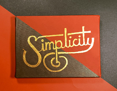 Simplicity, Fidelity & Integrity / Lettering Series