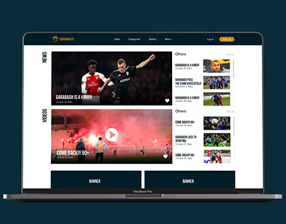 Qarabagh Web Site UI Concept
