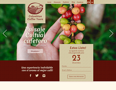 UX design Colombian Coffee Tours