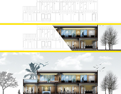 Architectural Section Rendering