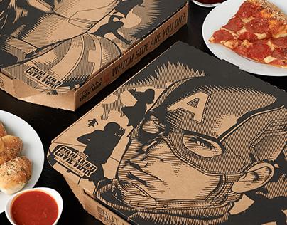 Civil War Pizza Hut Boxes