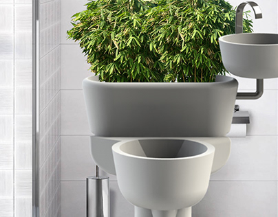 Quick concept project of eco-bathrooms (2017)