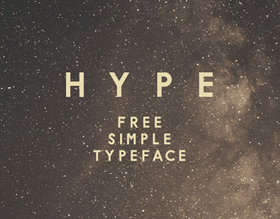 H Y P E - Free Font