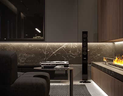 Дизайн интерьера модульного дома 135 м кв.