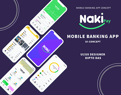 Taka Naki Mobile Banking App UI/UX Concept
