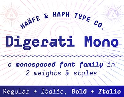 Digerati Mono Font Family