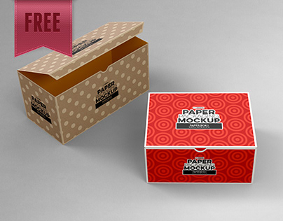 FREE Paper Packaging Mockup