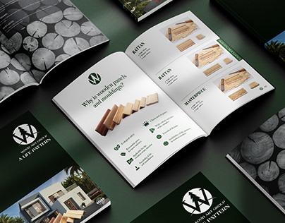 Wood Art Group   Logo and Catalogue design