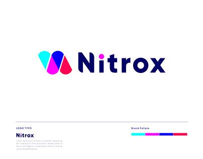 Nitrox Modern logo design- Logo Branding - N logo