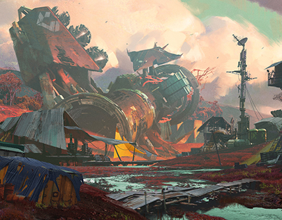 Crashed Colony Ship in Nessus.