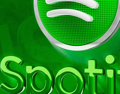FREE LOGO 3D Spotify Music