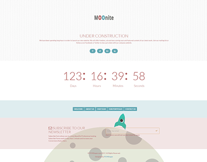Moonite - Coming Soon HTML Web Bootstrap Template