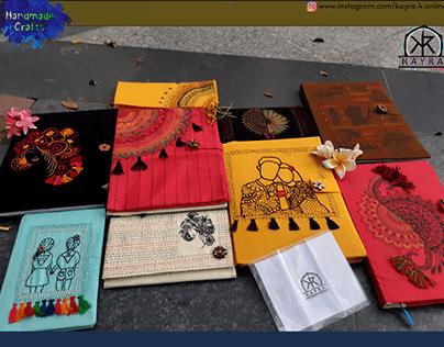 Handmade Crafts : Diary & Purse.