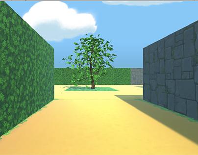 Laberinto del tesoro VR - Diseño interactivo