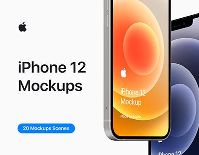 4 Free iPhone 12mockups