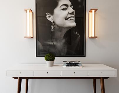 Console Table + Portrait