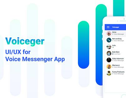 Full UX/UI for Voice Messenger App