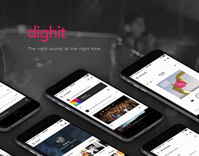 Dighit   Music streaming app