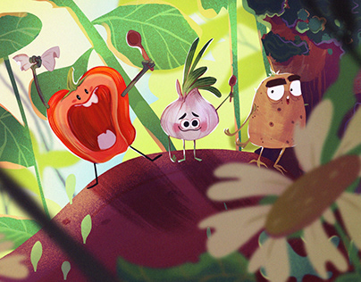Pepper and Onion, Veggies!| Children Illustration