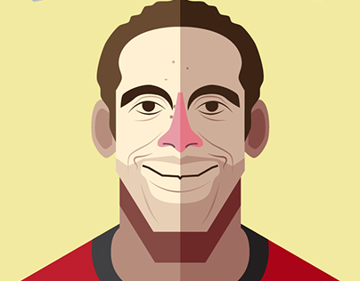 Manchester United Player Illustration