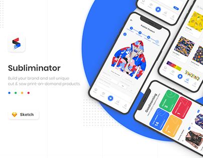 Subliminator - Print-On-Demand - Mobile App