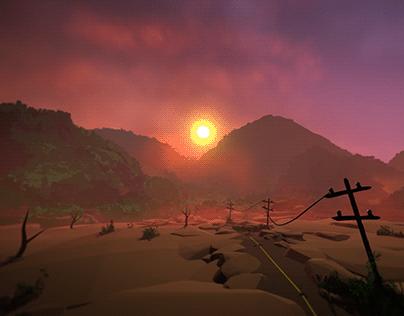"""Tilt Brush Cinematic Animation in 4K 2D """"The Desert"""""""