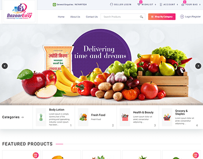 BazaarEasy.com/Beta - Grocery Products Ecommerce Store
