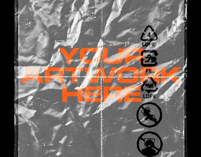Free Plastic Sleeve/Bag Mockup