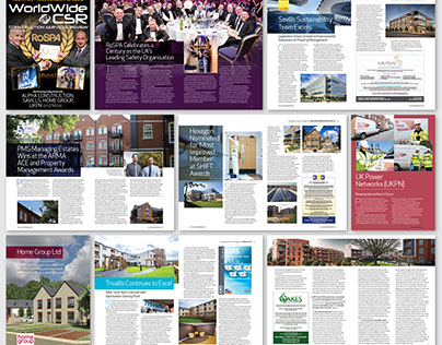 Worldwide Construction Services Review magazine design