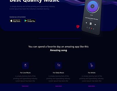 Music App Landing Page