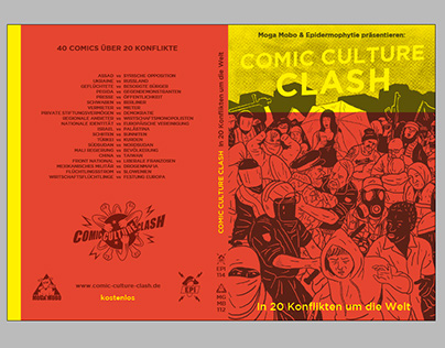 COVER illustration for COMIC CULUTURE CLASH from Berlin