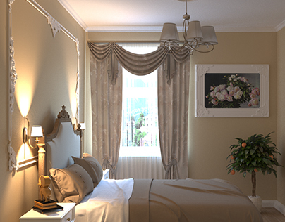 Romantic Bezh Bedroom